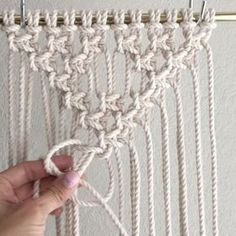 """Macrame how to video E L S I E G O O D W I N (@reformfibers) on Instagram: """"How to Tie Alternating Square Knot Triangles // This is a repeat video that I thought would be good…"""""""
