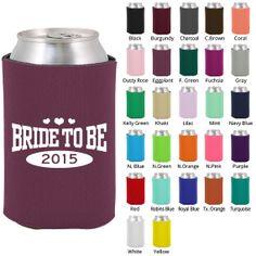 Custom Bachelorette Koozies (Clipart 6087) Bride To Be - Bachelorette Favors - Bachelorette Party Koozie