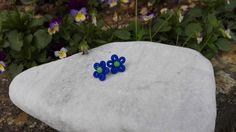 Orecchini in Fimo / Fiore Blu di 110Gradi su Etsy