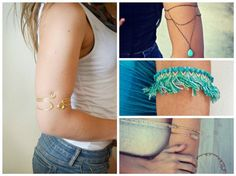 """Jewelry Trends: What's Hot Now in the World of Jewelry - Jewelry Making Daily - Blogs - Jewelry Making DailyUpper Arm Bracelets  Sometimes called """"armlets"""" or """"arm cuffs,"""" upper arm bracelets are made to be worn above the elbow. They comprise all sorts of materials--chain, wire, textiles, beads, metal tubing, gemstones--which allows for wonderful flexibility when choosing supplies to make them"""