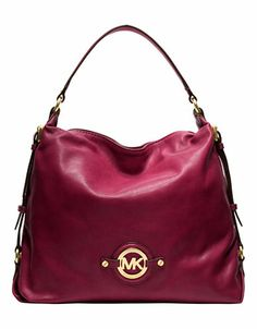 MICHAEL MICHAEL KORS Stockard Oiled Nappa Leather Shoulder Bag
