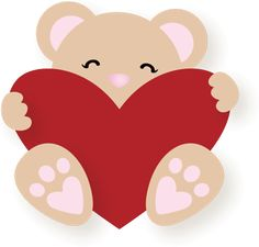 Teddy Bear Heart SVG File for Sure Cuts a Lot