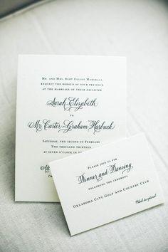 Classic wedding invitations. Photo by Heather Ann Design & Photography. #wedding #invite #classic