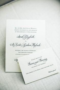 Classic wedding invitations. Photo by Heather Ann Design & Photography. #wedding #invite #classic