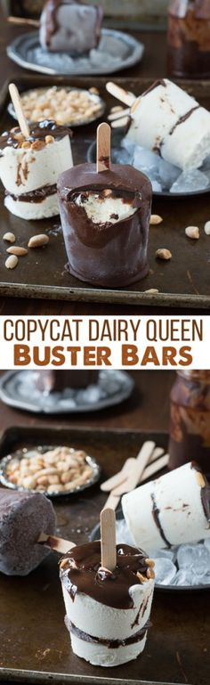 A homemade version of Dairy Queen's buster bars! With homemade ice cream, hot fudge, and magic shell!
