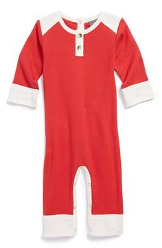Organic Cotton Henley Romper (Baby)