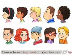 Random Characters 2 by LuigiL on DeviantArt Character Design Sketches, Character Design Cartoon, Kid Character, Character Design Animation, Cartoon Design, Character Design References, Character Drawing, Character Design Inspiration, Character Illustration