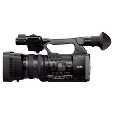 Sony - FDR-AX1 4K Ultra HD (2160p) Flash Memory Camcorder - Black - Larger Front