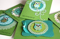 Love the Stampin' Up owl punch. Scrapbooking, Scrapbook Cards, Owl Punch Cards, Owl Card, Owl Crafts, Small Cards, Bird Cards, Marianne Design, Paper Cards