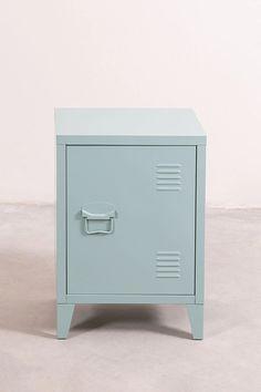 Side Table Locker in Metal Pohpli - SKLUM Wooden Bedside Table, Wood Nightstand, Metal Side Table, Night Table, White Rug, A Shelf, Bedroom Styles, Wood Shelves