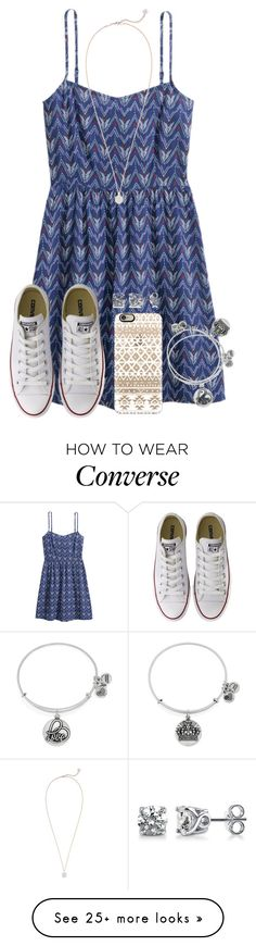 """""""Dresses With Converses """" by twaayy on Polyvore featuring Converse, Casetify, BERRICLE, Alex and Ani and Kendra Scott"""