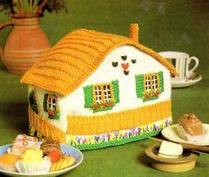Vintage Unusual Swiss Chalet Tea Cosy Knitting Pattern   eBay