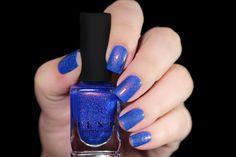 Cobalt Blue Nails, Blue Acrylic Nails, Blue Nail Polish, Holographic Nail Polish, Purple Nails, Glitter Nails, Aycrlic Nails, Coffin Nails Designs Kylie Jenner, Coffin Nails Designs Summer