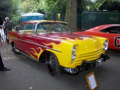 1956 Chevrolet Bel Air Coupé #old #classic #car flames