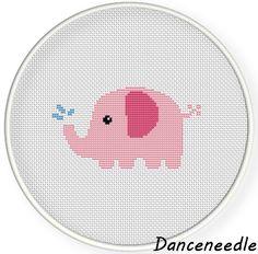 Instant Download,Free shipping,Cross stitch pattern, Crossstitch PDF,a cute elephant,zxxc0819