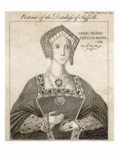 Mary Tudor,Duchess of Suffolk Charles Brandon, Mary Tudor, King Henry Viii, Royal Blood, Tudor History, King Queen, Mona Lisa, Artwork, Work Of Art