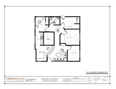 Chiropractic Office #Design Floor Plan Closed Adjusting 2516 gross sq. ft. http://www.chiropracticofficedesign.com