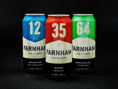 Interesting type-centric approach... Farnham Ale & Lager Brewery (via Lovely Package)