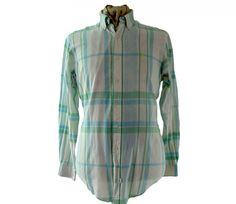 "Checked Ralph Lauren shirt Features a dark blue, green and white checked print #ralphlauren #90sshirts #vintagefashion #vintage #retro #vintageclothing #90s #1990s #vintageshirts <link rel=""canonical"" href=""http://www.blue17.co.uk/>"