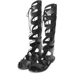 FIGTREE Gladiator Sandals ($85) ❤ liked on Polyvore featuring shoes, sandals, zapatos, topshop, topshop shoes, roman sandals, gladiator sandals and gladiator sandals shoes