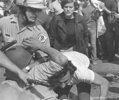 On August 26, 1968, the Democratic National Convention begins in Chicago (confrontations between protesters and the Chicago Police make it the most violent in U.S. history).