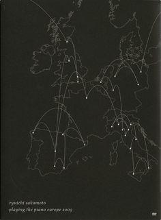 坂本龍一 playng the piano europe 2009 / Designed by Hideki Nakajima Art Director, Creative Art, Piano, Europe, Graphics, Japanese, Graphic Design, Prints, Pattern