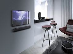 Blowing you away with audio, the YAS-106 Sound Bar can be simply placed on top of your entertainment unit or easily mounted to the wall for a streamlined look.