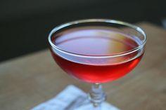 Rhubarb Bridge (rhubarb, vodka, Aperol, simple syrup)