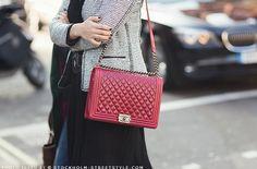 Just this last Chanel then I'm done. I swear. Chanel Le Boy, Fashion Bags, Womens Fashion, Fashion Fashion, Chanel Handbags, Purses And Bags, Burgundy, Fancy, Shoulder Bag
