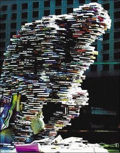 Book Sculpture: balancing act This is quite wonderful!