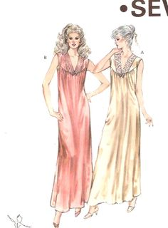 cdf356f624 Items similar to Nightgown Sewing pattern Lingerie evening wear for women  Sewing pattern Kwik Sew 1386 SZ XS to Medium on Etsy