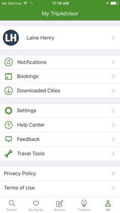 TripAdvisor profile