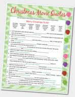 Fun Christmas Party Game Popular Quotes most popular christmas movie quotes Christmas Party Games For Adults, Fun Christmas Party Games, Xmas Games, Printable Christmas Games, Christmas Trivia, Adult Christmas Party, Christmas Gift Exchange, Holiday Games, Merry Christmas To All