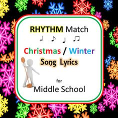 Match the Song Lyrics to their RhythmPacket Includes:   5 Different Worksheets with 4 different Song Lyric lines per sheetLyric Phrases from 20 Different Christmas / Winter Holiday Songs.A Holly Jolly ChristmasAngels We Have Heard On HighAway In A MangerCarol of the BellsDeck The HallsFrosty The SnowmanGo Tell It On The MountainI Saw Mommy Kissing Santa ClausIt Came Upon A Midnight ClearJingle Bell RockJingle BellsJolly Old Saint NicholasJoy To The WorldLet It SnowRockin Around The…
