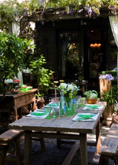 Great Ideas For Outdoor Dining Areas