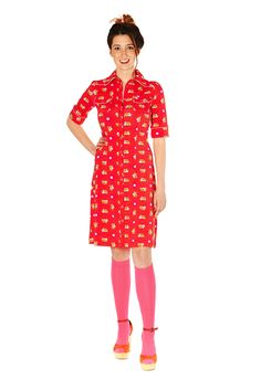 Tante Betsy dress :Betsy Red King Louie, Button Down Dress, Dress Skirt, Retro, Summer 2015, My Style, Skirts, How To Wear, Happiness