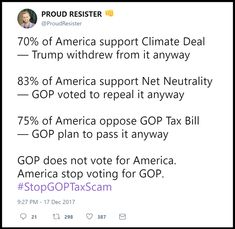 You gop voters are literally commiting financial suicide by electing people who disregard your wishes to line their own pockets.