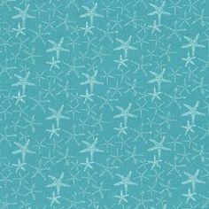 Dear Stella House Designer - Life Aquatic - Starfish in Aqua