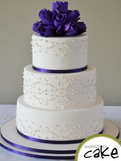 Purple and Piping - Cake by Inspired by Cake - Vanessa - CakesDecor