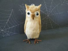 Owl Halloween Spun Cotton Ornament Feather Tree by ornamentsbypink, $24.00