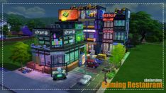 Lotes The Sims 4, Sims Cc, Types Of Communities, Building A House, Building Ideas, Sims 4 Build, Sims 4 Houses, Gaming, Restaurant