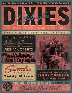 Vintage Jazz Event Poster/Flyer by ZamfirAugustin on deviantART