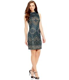 2e1fd7c913 Antonio Melani Juni Metallic Jacquard Dress