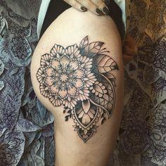 floral mandala tattoo © marine_ishigo_tattoo