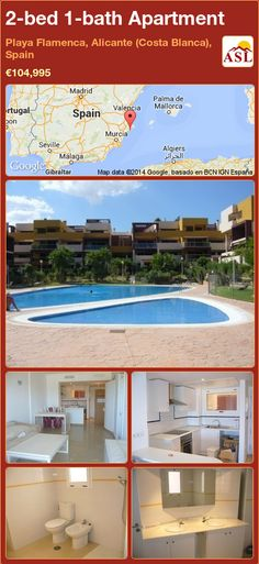 2-bed 1-bath Apartment in Playa Flamenca, Alicante (Costa Blanca), Spain ►€104,995 #PropertyForSaleInSpain