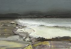 Bushe C Apowerful Sea The Sound Of Mull Oil On Board 36X26