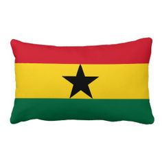 Pillow with flag of Ghana
