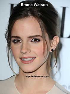 Apr 15 - Emma Watson, French-born British actress was Born Today. For more famous birthdays http://holidayyear.com/birthdays/