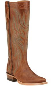 Ariat Lucinda Women's Rich Tan with Side Zip Tall Top Square Toe Western Boots | Cavender's