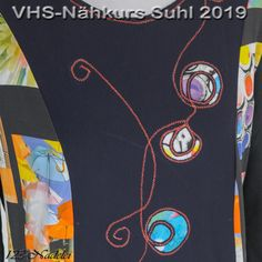 Reverse Applikation, Maschinenstiche, sew, cut slice, Jersey Layers, Upcycling, Refasion, Mending, Textile Art, Shirt Flower paint textile color, Chenille, Textile Art, Layers, Sew, Paint, Flower, Color, Scrappy Quilts, Yarn And Needle